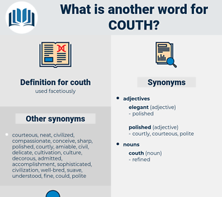 couth, synonym couth, another word for couth, words like couth, thesaurus couth