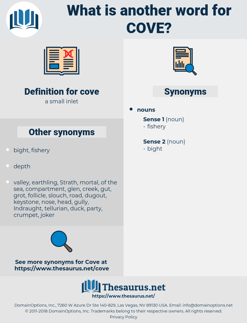cove, synonym cove, another word for cove, words like cove, thesaurus cove