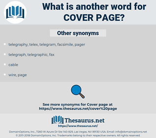 cover page, synonym cover page, another word for cover page, words like cover page, thesaurus cover page