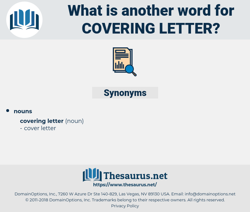 covering letter, synonym covering letter, another word for covering letter, words like covering letter, thesaurus covering letter