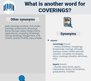 coverings, synonym coverings, another word for coverings, words like coverings, thesaurus coverings