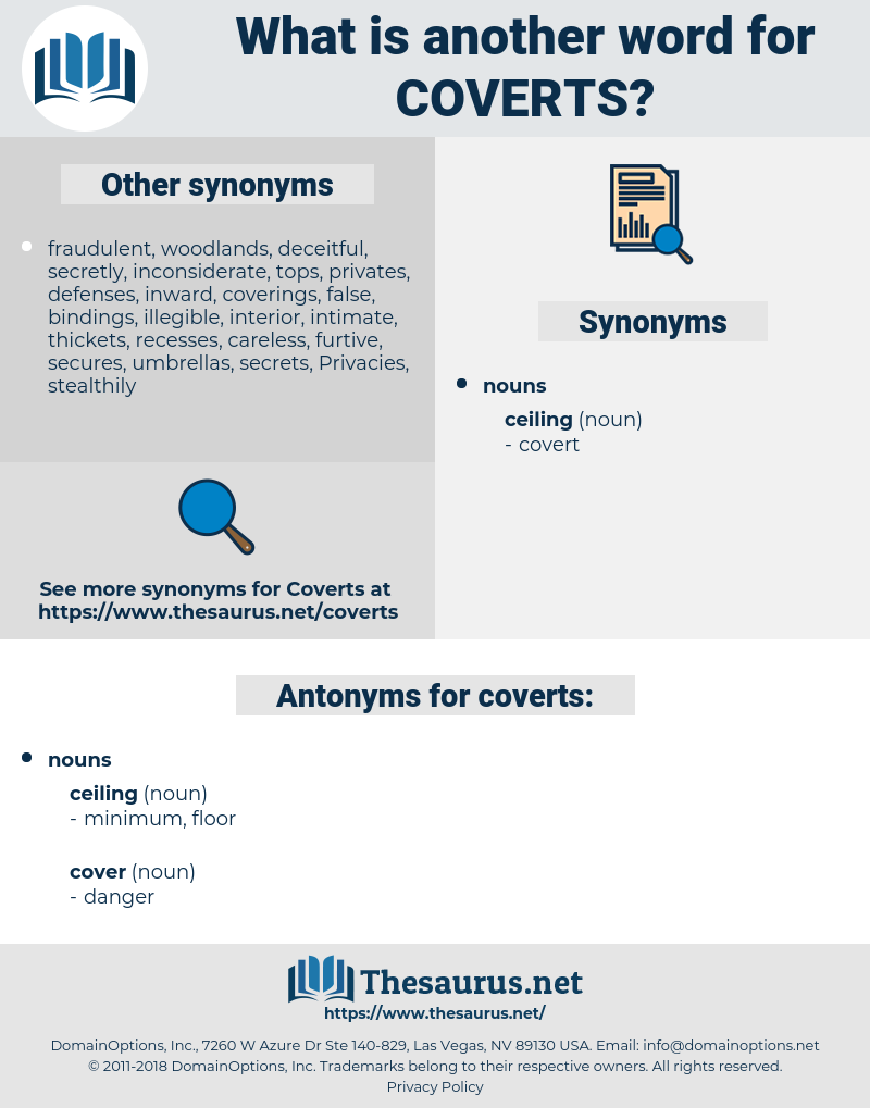 coverts, synonym coverts, another word for coverts, words like coverts, thesaurus coverts
