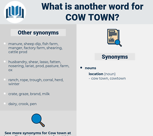 cow town, synonym cow town, another word for cow town, words like cow town, thesaurus cow town