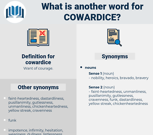 cowardice, synonym cowardice, another word for cowardice, words like cowardice, thesaurus cowardice