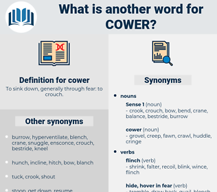 cower, synonym cower, another word for cower, words like cower, thesaurus cower