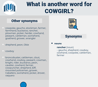 cowgirl, synonym cowgirl, another word for cowgirl, words like cowgirl, thesaurus cowgirl