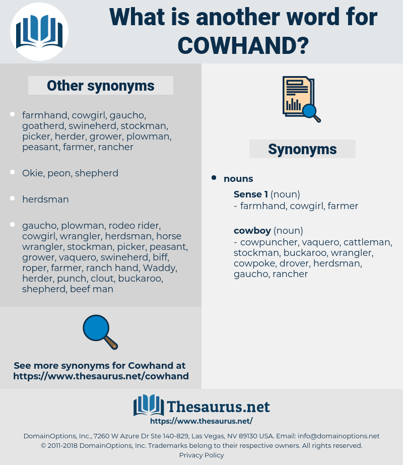cowhand, synonym cowhand, another word for cowhand, words like cowhand, thesaurus cowhand