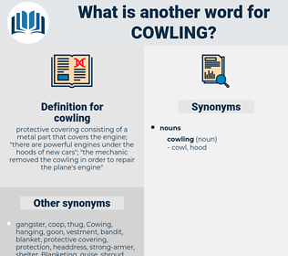 cowling, synonym cowling, another word for cowling, words like cowling, thesaurus cowling