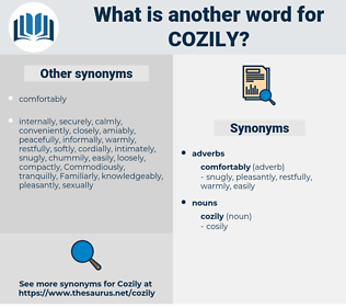 cozily, synonym cozily, another word for cozily, words like cozily, thesaurus cozily