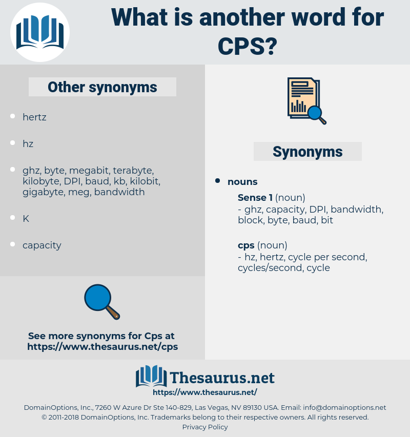 cps, synonym cps, another word for cps, words like cps, thesaurus cps
