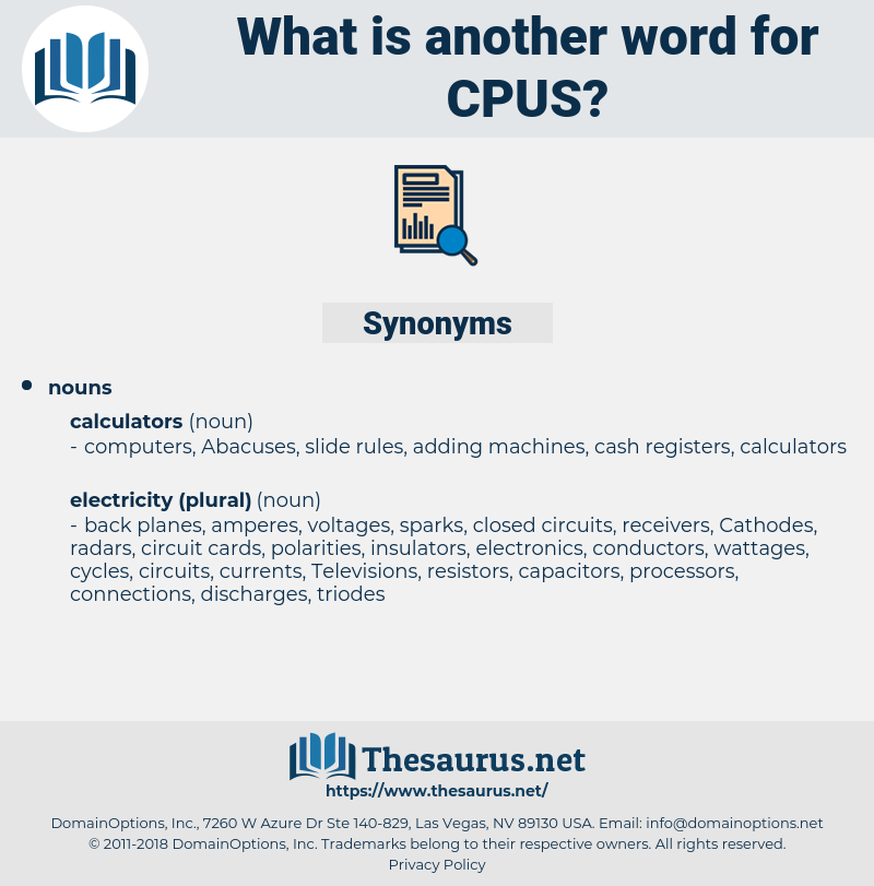 CPUs, synonym CPUs, another word for CPUs, words like CPUs, thesaurus CPUs