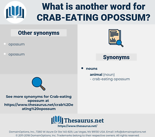 crab-eating opossum, synonym crab-eating opossum, another word for crab-eating opossum, words like crab-eating opossum, thesaurus crab-eating opossum