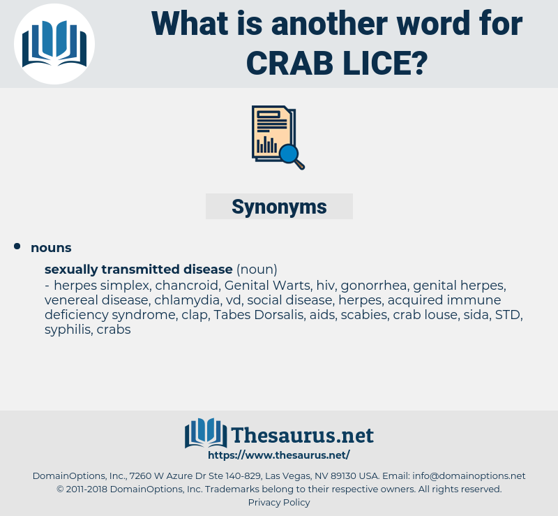 Crab Lice, synonym Crab Lice, another word for Crab Lice, words like Crab Lice, thesaurus Crab Lice