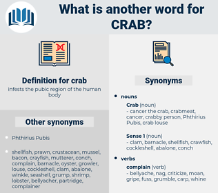 crab, synonym crab, another word for crab, words like crab, thesaurus crab