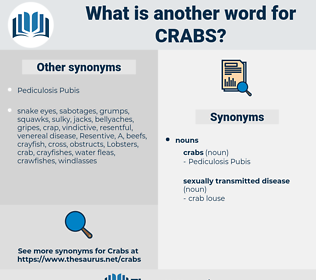 crabs, synonym crabs, another word for crabs, words like crabs, thesaurus crabs
