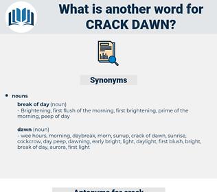 crack dawn, synonym crack dawn, another word for crack dawn, words like crack dawn, thesaurus crack dawn
