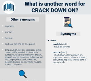 crack down on, synonym crack down on, another word for crack down on, words like crack down on, thesaurus crack down on