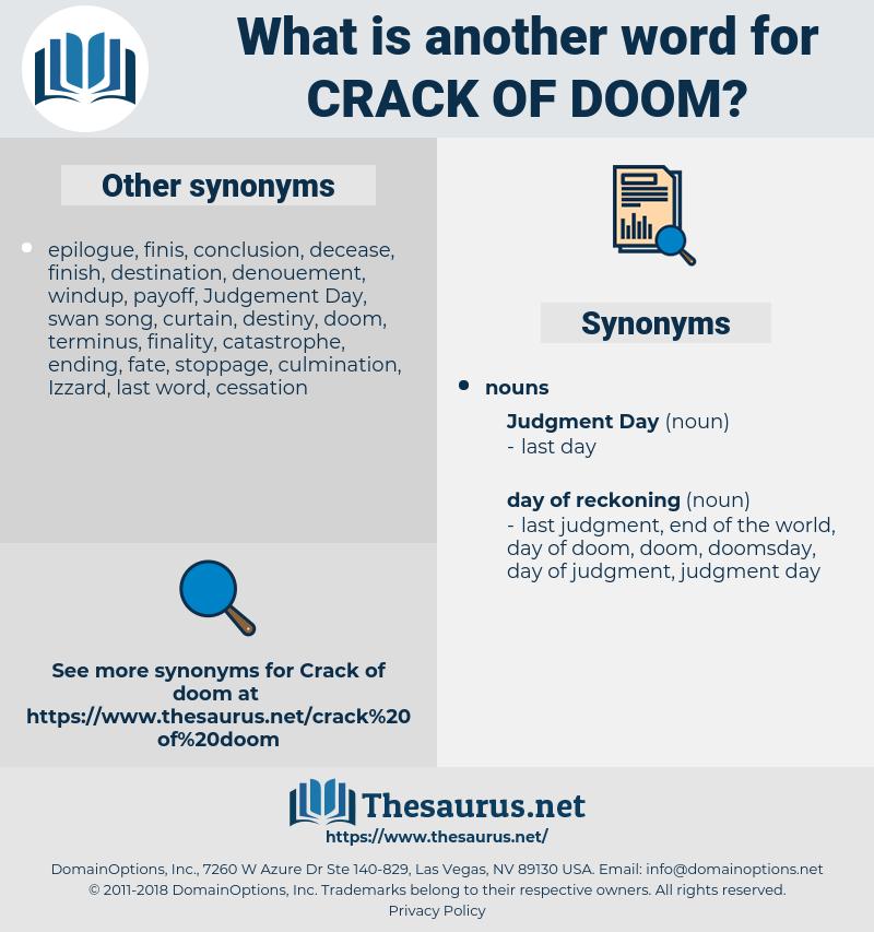 crack of doom, synonym crack of doom, another word for crack of doom, words like crack of doom, thesaurus crack of doom