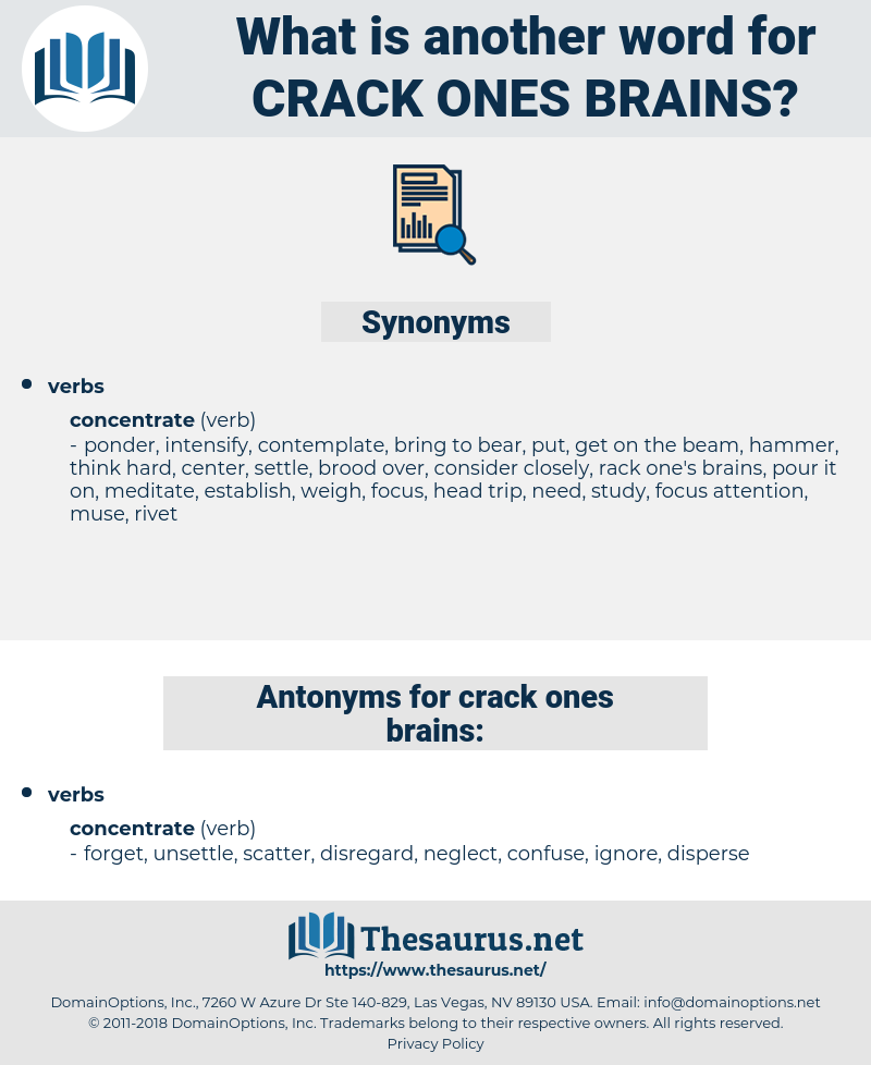 crack ones brains, synonym crack ones brains, another word for crack ones brains, words like crack ones brains, thesaurus crack ones brains