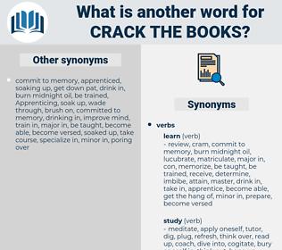 crack the books, synonym crack the books, another word for crack the books, words like crack the books, thesaurus crack the books