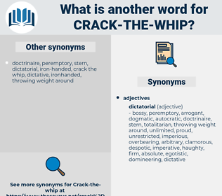 crack the whip, synonym crack the whip, another word for crack the whip, words like crack the whip, thesaurus crack the whip