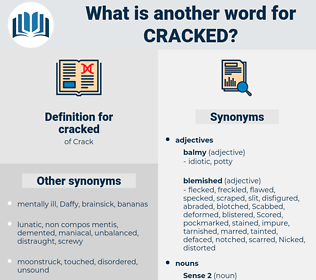 cracked, synonym cracked, another word for cracked, words like cracked, thesaurus cracked