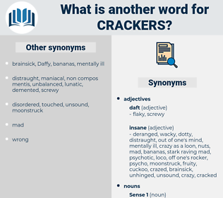 crackers, synonym crackers, another word for crackers, words like crackers, thesaurus crackers