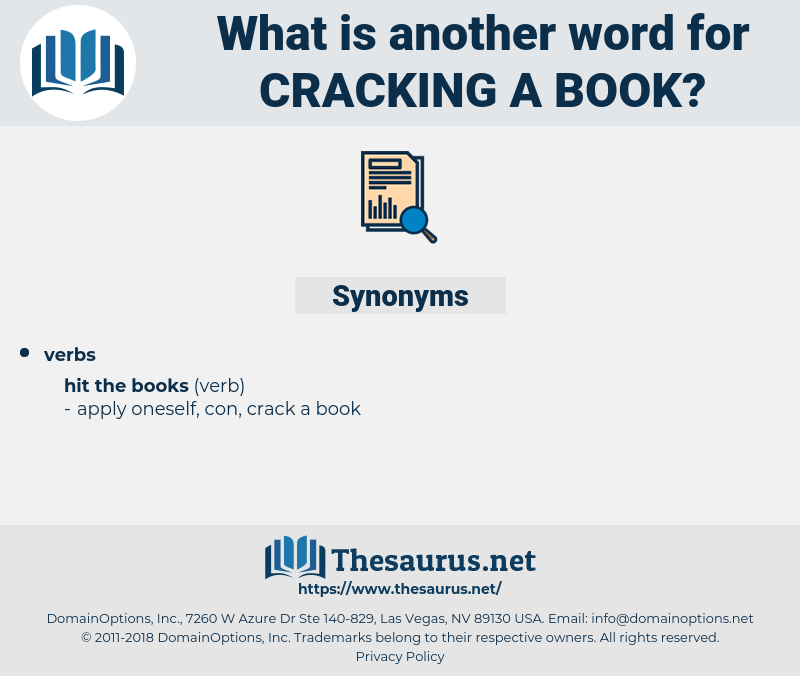 cracking a book, synonym cracking a book, another word for cracking a book, words like cracking a book, thesaurus cracking a book
