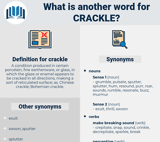 crackle, synonym crackle, another word for crackle, words like crackle, thesaurus crackle