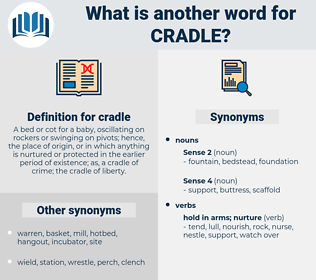 cradle, synonym cradle, another word for cradle, words like cradle, thesaurus cradle