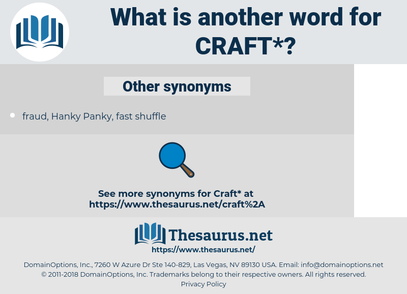 craft, synonym craft, another word for craft, words like craft, thesaurus craft