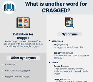 cragged, synonym cragged, another word for cragged, words like cragged, thesaurus cragged