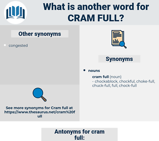 cram full, synonym cram full, another word for cram full, words like cram full, thesaurus cram full