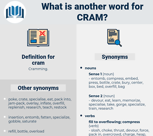 cram, synonym cram, another word for cram, words like cram, thesaurus cram