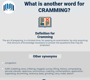 Cramming, synonym Cramming, another word for Cramming, words like Cramming, thesaurus Cramming