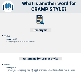 cramp style, synonym cramp style, another word for cramp style, words like cramp style, thesaurus cramp style