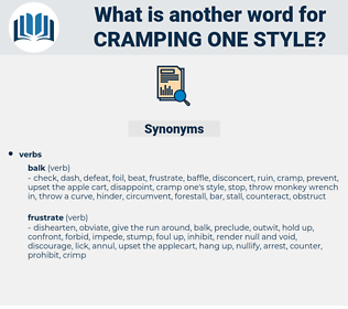cramping one style, synonym cramping one style, another word for cramping one style, words like cramping one style, thesaurus cramping one style