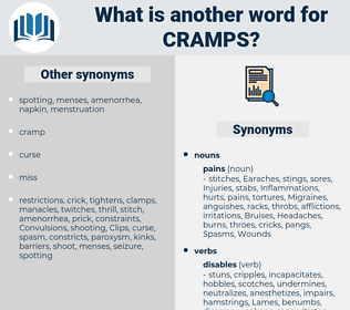 Cramps, synonym Cramps, another word for Cramps, words like Cramps, thesaurus Cramps