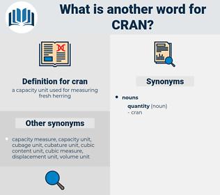 cran, synonym cran, another word for cran, words like cran, thesaurus cran