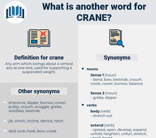 crane, synonym crane, another word for crane, words like crane, thesaurus crane