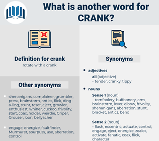 crank, synonym crank, another word for crank, words like crank, thesaurus crank