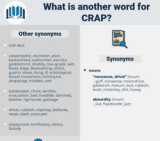 crap, synonym crap, another word for crap, words like crap, thesaurus crap