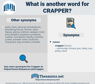 crapper, synonym crapper, another word for crapper, words like crapper, thesaurus crapper