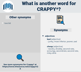 crappy, synonym crappy, another word for crappy, words like crappy, thesaurus crappy