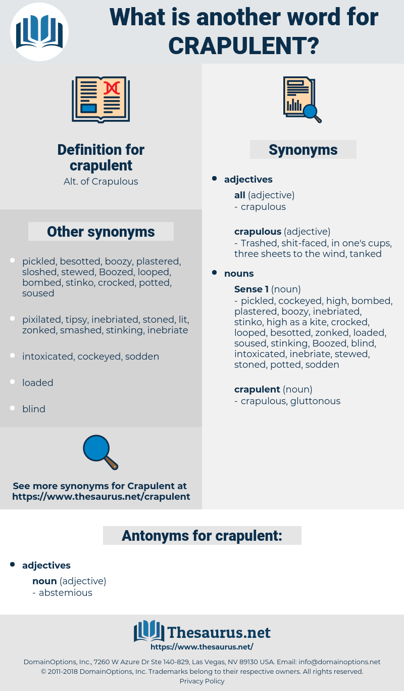 crapulent, synonym crapulent, another word for crapulent, words like crapulent, thesaurus crapulent