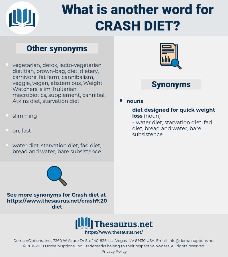 crash diet, synonym crash diet, another word for crash diet, words like crash diet, thesaurus crash diet