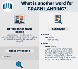 crash landing, synonym crash landing, another word for crash landing, words like crash landing, thesaurus crash landing