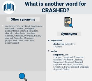Crashed, synonym Crashed, another word for Crashed, words like Crashed, thesaurus Crashed
