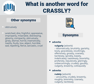 crassly, synonym crassly, another word for crassly, words like crassly, thesaurus crassly