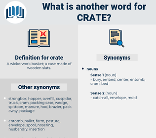 crate, synonym crate, another word for crate, words like crate, thesaurus crate